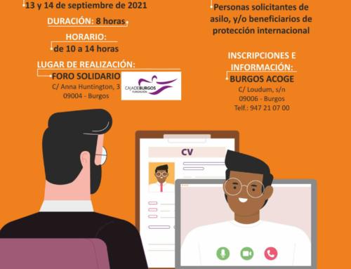 TALLER Entrevistas de trabajo online (13 y 14 de septiembre)